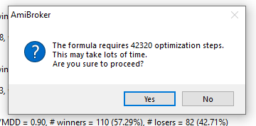 amibroker tutorial run an optimization