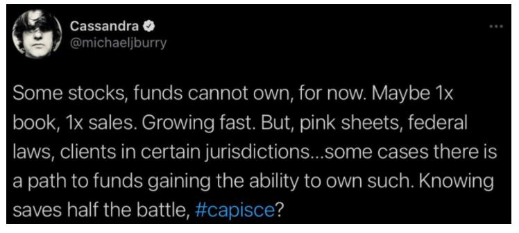 michael burry deleted tweet